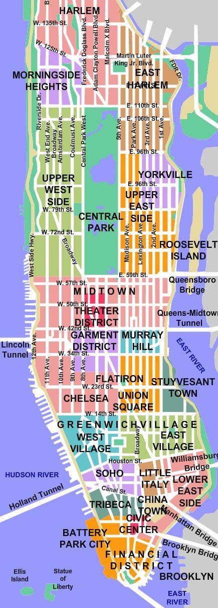 Mapa New Yorku Newyorkonline Cz
